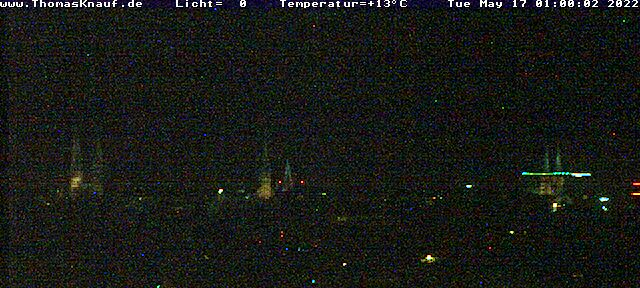 Lübeck Skyline Panorama with Altstadt (Old Town)